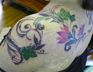 feminine floral tattoo design