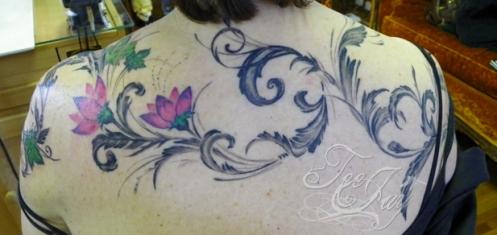 Sandy's shoulder tattoo