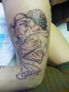 Sara's Gypsy Couple in progress
