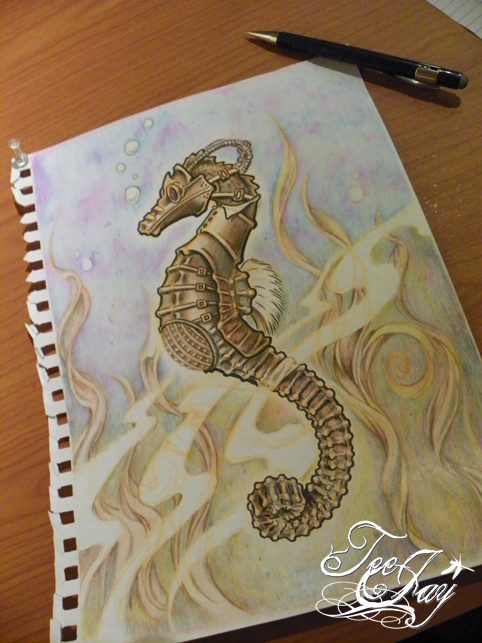 Steam Punk Sea Horse