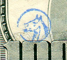 horse stamp on $100 bill