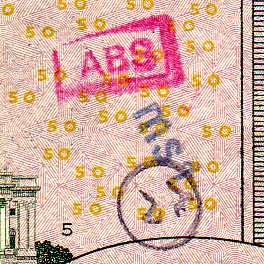 ABS MSL stamped on $50