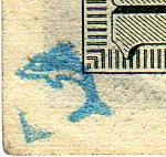 dolphin stamp on hundred dollar bill