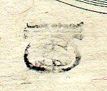 money bag stamp on 100 bill