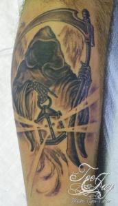 Reaper tattoo with Lantern