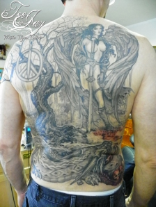 Jim's Back tattoo