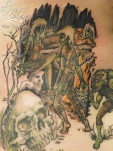 Green guy tattoo