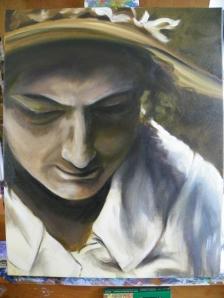 oil painting work in progress
