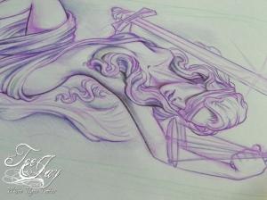 Justice tattoo design