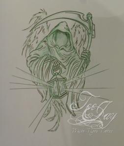 Reaper design for tattoo