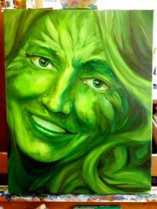 GreenLady painting in progress