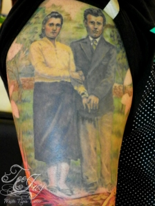 Joe's Grandparents tattoo