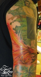 Phoenix tattoo fill in