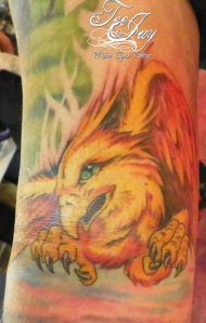 Phoenix tattoo fill in
