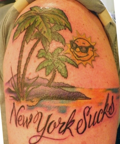 New York Sucks tattoo