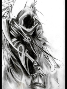 Reaper design for tattoo