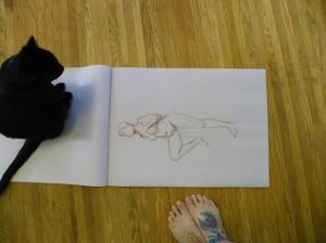 figure drawing helper cat