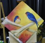 TeeJay crossbones painting in progress