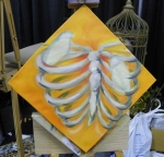 TeeJay birds and ribs painting in progress