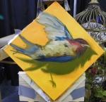 TeeJay dead bird painting in progress