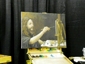 Scott W Prior painting of Chet Zar