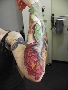 Holly's arm