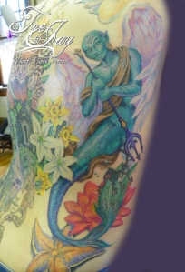 Feminine Back tattoo