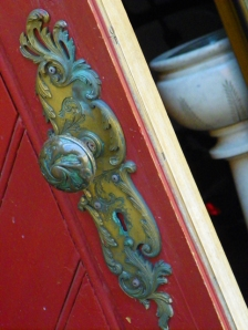 intricate door knob & plate