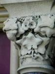 carved ivy on column