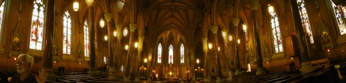 panoramic interior of St Michaels