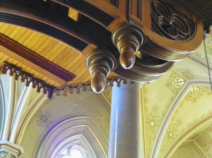 underneath choir loft