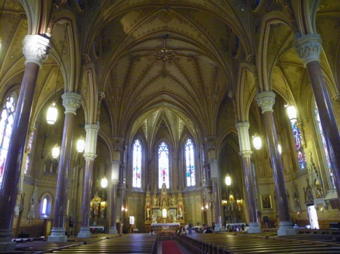 interior of St Michaels church Rochester NY