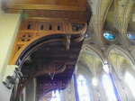 underneath choir loft