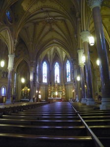 Looking west towards altar in St Michaels