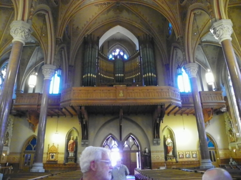 Looking East. Choir Loft and main entrance