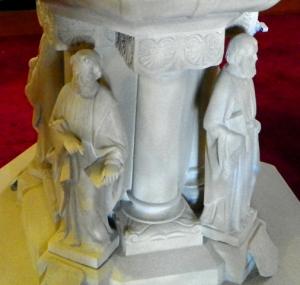 base of baptismal