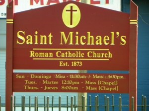 sign for St Michaels