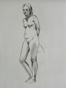 figure drawing standing female
