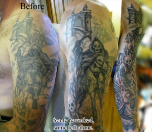 Old tattoos getting reworked