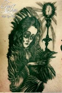 Fritz Eichenberg inspired tattoo