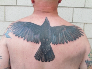 crow tattoo weepy