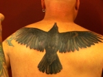 finished crow tattoo