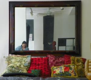 mirror in Pat's tats