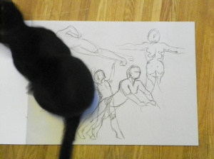 figure drawing helper cat