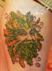 Greenman tattoo