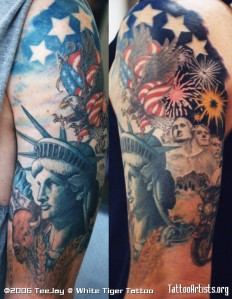 Patriotic tattoo