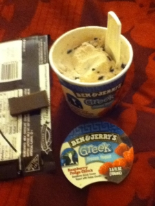 Ben & Jerry's for dinner