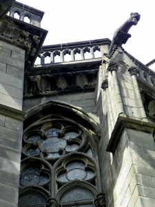 gargoyles and window