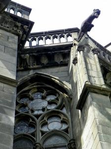 gargoyles and window