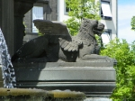 fountain winged lion